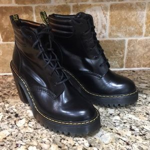 Dr. Martens Persephone Black Heel Boots Sz 6 US L